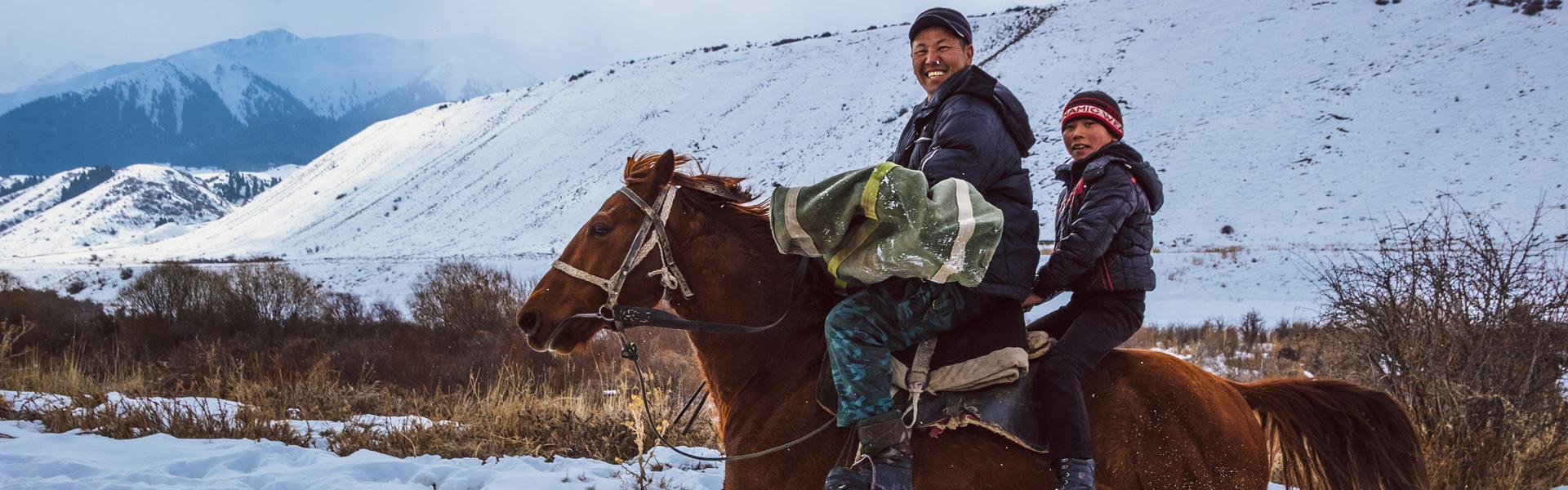 Paardrijden in Kirgizië