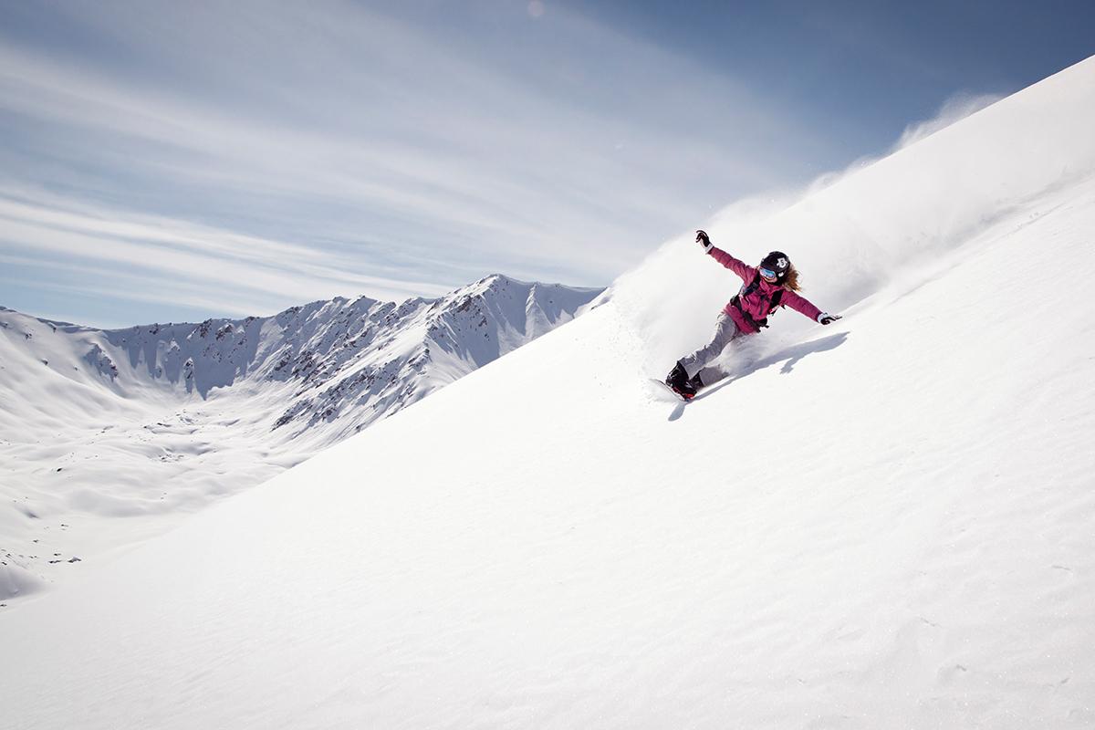 Snowboarden in Kirgizië
